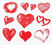 Collection heart vector Stock Images