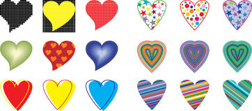Collection heart vector Royalty Free Stock Photos