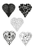 Collection of heart vector Royalty Free Stock Photo