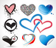 Collection heart vector design Royalty Free Stock Images