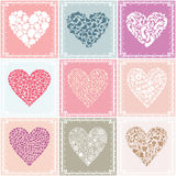 Collection heart2. Collection heart on different themes of love. A vector illustration Royalty Free Stock Photography