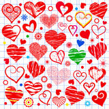 Collection hearts Stock Photography