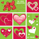 Collection of hearts Stock Photo