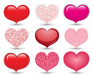 Collection of hearts Royalty Free Stock Photos