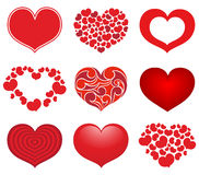 Collection of hearts Stock Photos