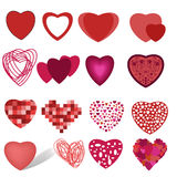 Collection of hearts Royalty Free Stock Images