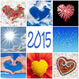 2015, collection of hearts Stock Image