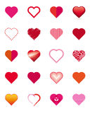 Collection of  Hearts Stock Photography