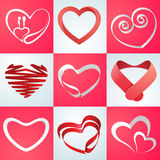 Collection of hearts for Valentines Day celebration. Stock Image