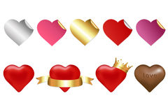 Collection Of Hearts. Vector Stock Images