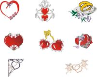 collection of  hearts wedding Royalty Free Stock Photo