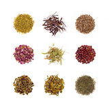Collection of Herbal tea stock photo