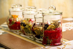 Collection of herbal tea Royalty Free Stock Photos