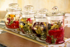 Collection of herbal tea Royalty Free Stock Image