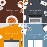 Collection of hero images Royalty Free Stock Images
