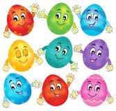 Collection heureuse 2 d'oeufs de pâques Images stock