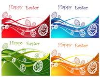 Collection heureuse de fond de Pâques Images stock
