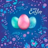 Collection heureuse de Pâques illustration stock