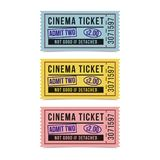 Movie tickets isolated on white background. Royalty Free Stock Image