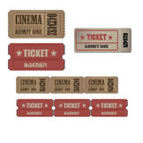 Collection of High detail Vintage grunge Tickets and Coupons vector illustrations Royalty Free Stock Photos