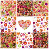 Collection of hippie wallpapers Royalty Free Stock Photo