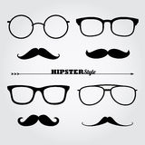 Collection of hipster glasses Royalty Free Stock Images