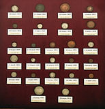 The collection of historic coins Stock Images