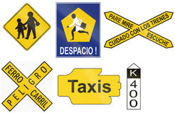 Collection of historical road signs of Argentina Royalty Free Stock Images