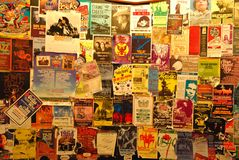 Collection historique de Playbills aux roches rouges images libres de droits
