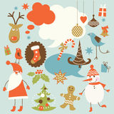 Collection of holiday's icons Stock Photography