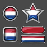 Collection of holland flag icons Royalty Free Stock Image