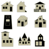 Collection of home logo. Nine tipes of vector houses for web or any real estate companies Royalty Free Stock Photo