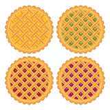 Collection of homemade fruit and berry pies. vector  Royalty Free Stock Photos