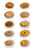 Collection of Homemade Pizza Royalty Free Stock Photo