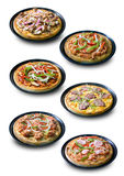 Collection of Homemade Pizza Stock Photo