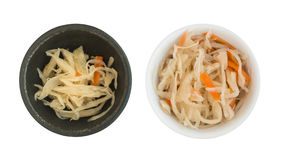 Collection of Homemade Sauerkraut and Carrots Isolated Royalty Free Stock Image