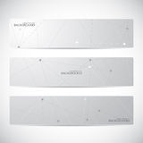 Collection of horizontal banner design. Molecule Royalty Free Stock Photo