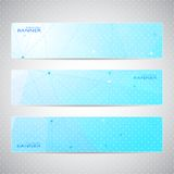 Collection horizontal banners design. Molecule and Royalty Free Stock Photo