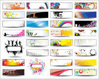 Collection Horizontal Headers. On different topics Stock Photos
