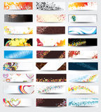 Collection Horizontal Headers. On different topics Royalty Free Stock Photo