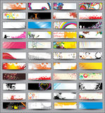 Collection Horizontal Headers Royalty Free Stock Image
