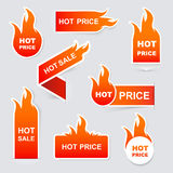 Collection of hot sale and hot price promo  Royalty Free Stock Photo
