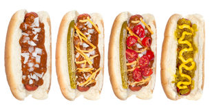 Collection of hotdogs Stock Image