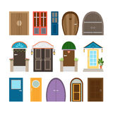 Collection of house doors Stock Image