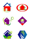 Collection of house and home logo Royalty Free Stock Image