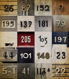 Collection of House numbers Stock Image