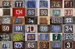 Collection of House numbers Stock Photography