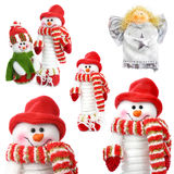 Collection of �hristmas snowman  isolated Royalty Free Stock Images