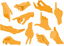 Collection of human hands. Vector file Stock Image