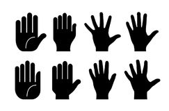 Collection of human hands. Big collection of human hands vector illustration Stock Illustration